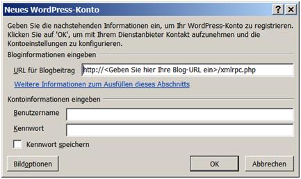 Blog mit Word 2007 Bild 3