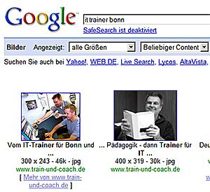 Google-Bildersuche: it trainer bonn
