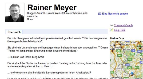 Train-und-Coach.de Google Profil Rainer Meyer