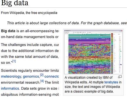 Definitionen von Big-Data